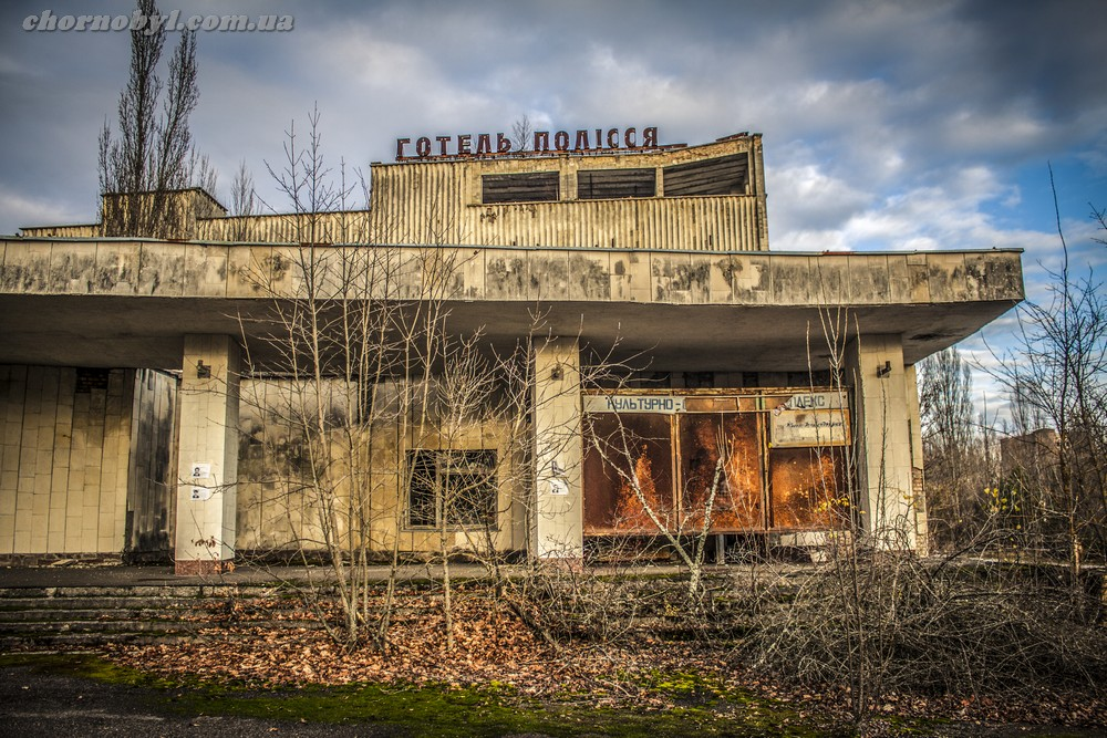 Abandoned houses in Pripyat, Chernobyl  The most famous city