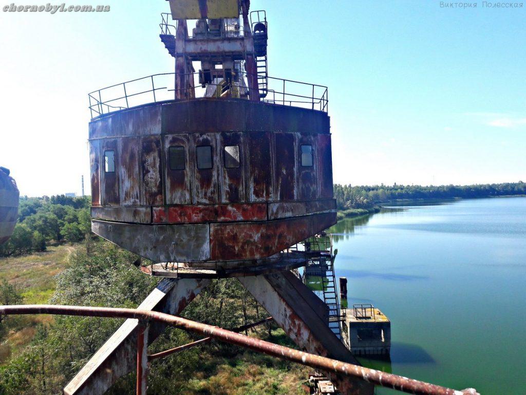 dock cranes near Chernobyl