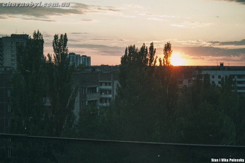 Sunset in Pripyat
