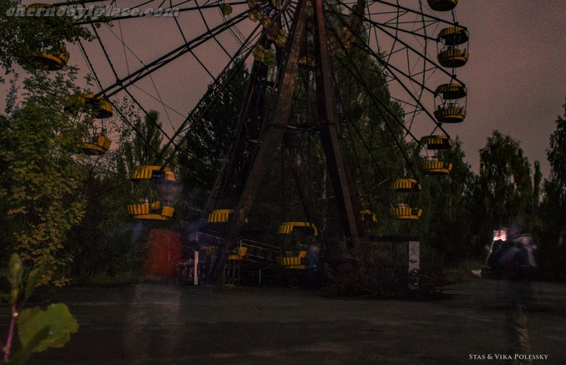 Pripyat at night