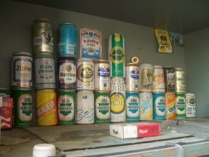 Collection of old beer Upiter