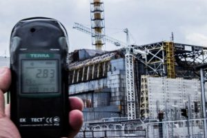 Radiation level near Chernobyl power plant