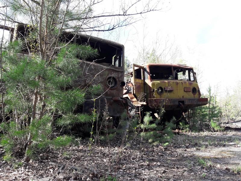 Abandoned vehicles in Pripyat
