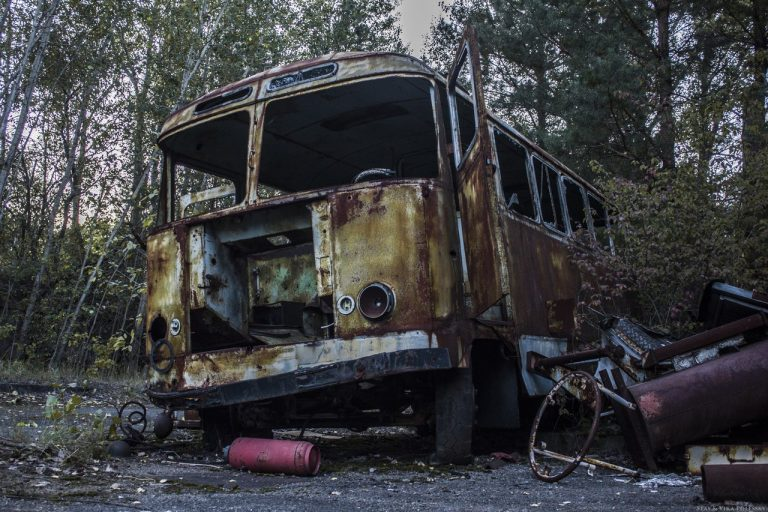 abandoned vehicles pripyat
