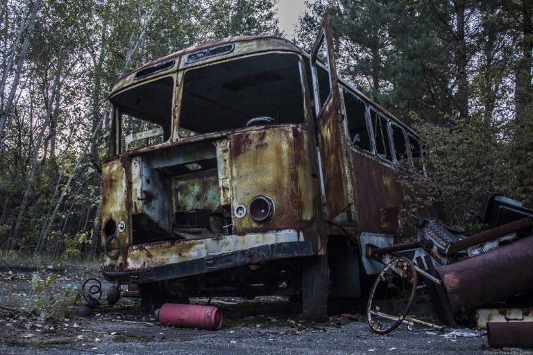 abandoned vehicles pripyat