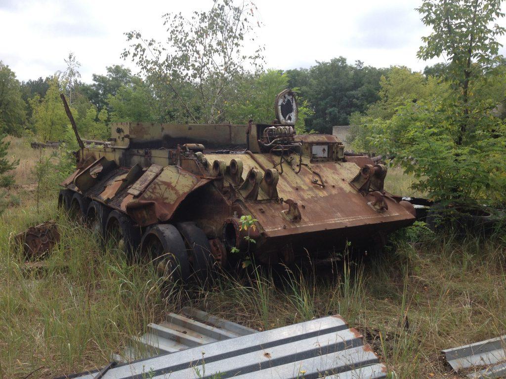 abandoned military vehicles chernobyl