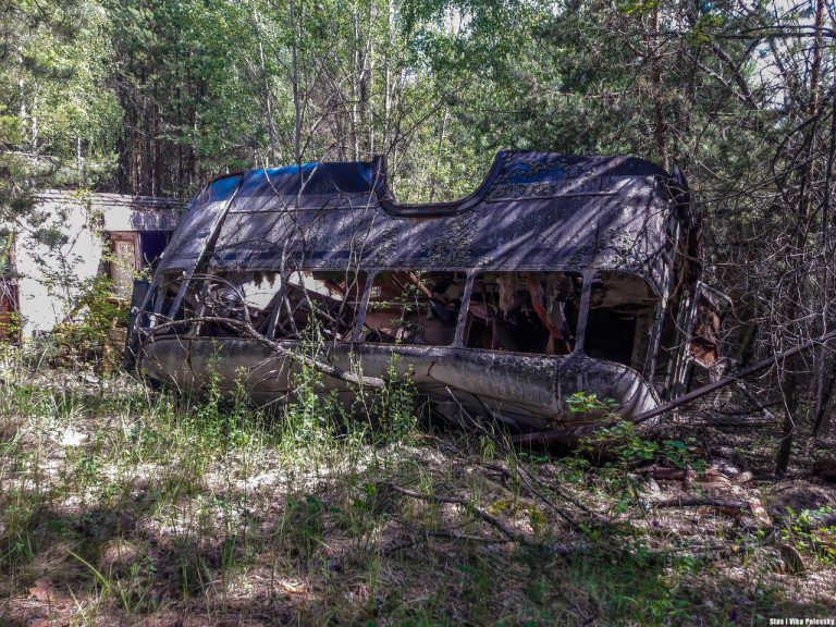 abandoned vehicles at chernobyl